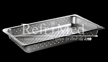 charola-perforada charolas-con-jaladeras de acero inoxidable