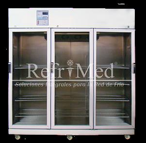 refrigerador-farmaceutico- de acero inoxidable