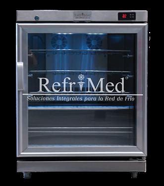 refrigerador-tipo-frigobar de acero inoxidable
